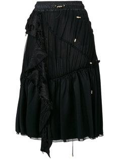 юбка с оборкой и шнурком  Versace