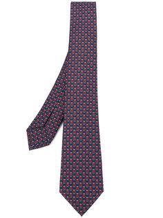 галстук с микро-принтом сов Bulgari