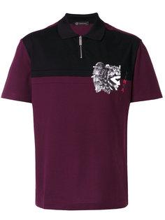 футболка поло на молнии Versace