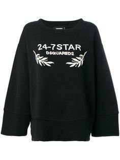 толстовка свободного кроя 24-7 Star Dsquared2