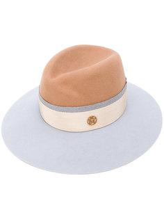 colour block trilby hat Maison Michel