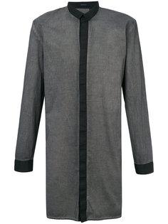 удлиненная рубашка с воротником под горлом Unconditional