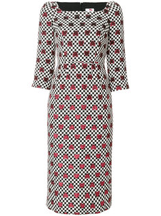 metallic heart print dress Ultràchic
