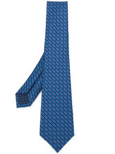 галстук с микро-принтом Bulgari