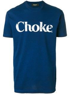 футболка с принтом Choke Dsquared2