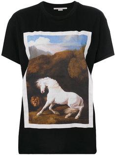 футболка с принтом лошади Stella McCartney