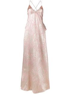 парчево-шелковое вечернее платье  Rochas