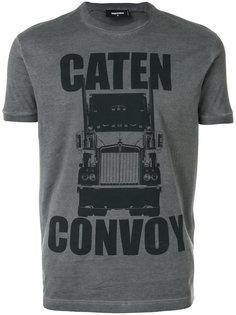 футболка с принтом Caten Convoy Dsquared2