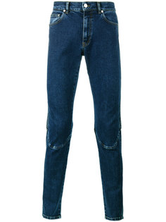 байкерские узкие джинсы Kenzo