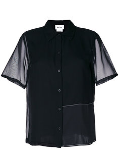 полупрозрачная блузка шифт  DKNY