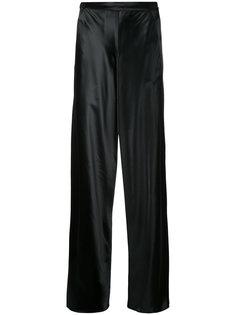 атласные широкие брюки Christopher Esber