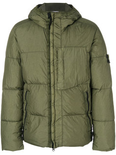 logo patch padded coat Stone Island