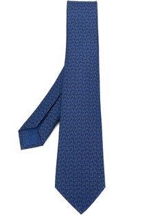 галстук с микро-принтом пауков Bulgari