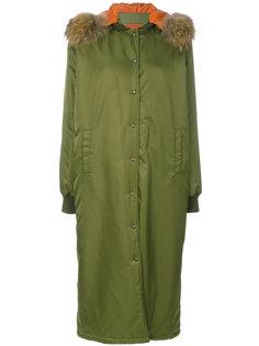 пальто на кнопках с капюшоном Ava Adore