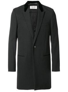 пальто с бархатным воротником Saint Laurent