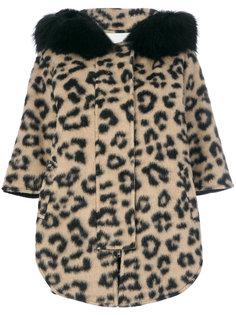 пальто с капюшоном и гепардовым принтом  Ava Adore
