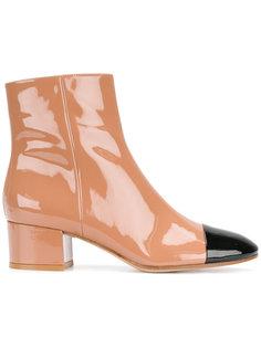 ботинки с контрастным носком Gianvito Rossi