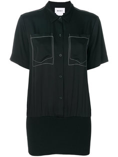 рубашка с вышивкой  DKNY