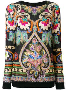 свитер с цветочным узором  Etro