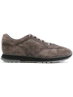 кроссовки со шнуровкой на утолщенной подошве Santoni