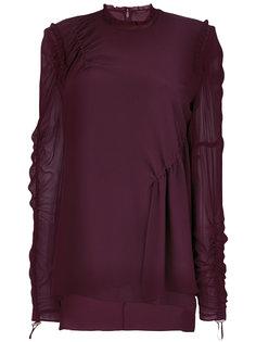 блузка со сборкой и шнурком  Versace
