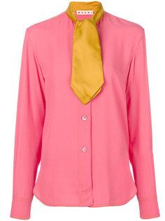рубашка с контрастным галстуком  Marni