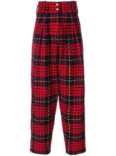 клетчатые брюки с высокой талией Balmain