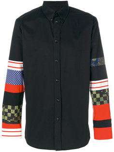 рубашка с разными принтами на рукавах Givenchy