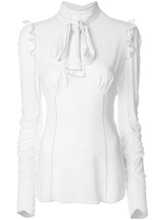 блузка с оборкой  Dolce & Gabbana
