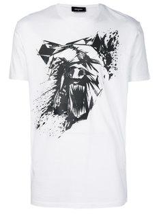 футболка с принтом abstract bear Dsquared2