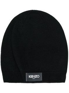 шапка с заплаткой с логотипом Kenzo