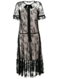 полупрозрачное кружевное платье  Twin-Set