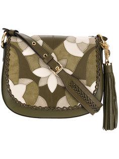 сумка-сэтчел с цветочной аппликацией Michael Michael Kors