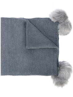 шарф с меховыми помпонами Twin-Set