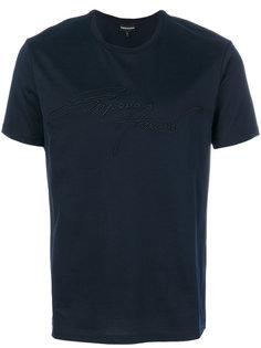 футболка с вышитым логотипом Emporio Armani