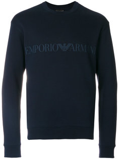 толстовка с принтом-логотипом Emporio Armani