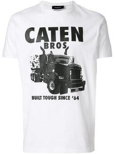 футболка с принтом Caten Bros  Dsquared2