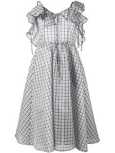 платье в клетку с оборками Detour Rosie Assoulin
