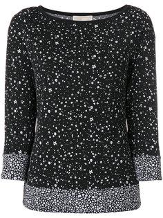 блузка-водолазка с цветочным узором  Michael Michael Kors