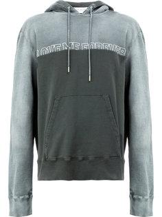 slogan print hoodie Saint Laurent