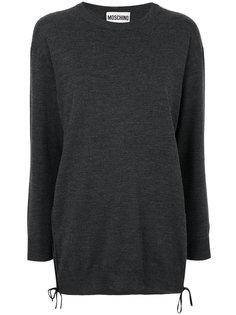 свитер с эластичным подолом Moschino