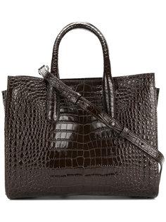 сумка-тоут с узором крокодиловой кожи  Max Mara