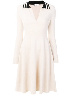 платье с открытым воротником  Lanvin