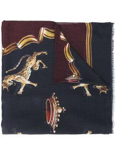 шарф с принтом диких кошек Dolce & Gabbana