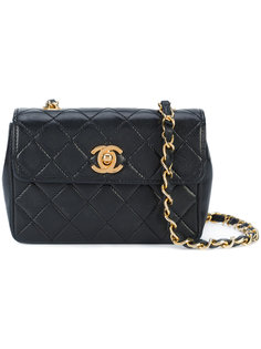 маленькая стеганая сумка через плечо на цепочке Chanel Vintage
