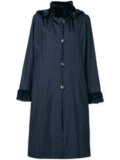 пальто с контрастным воротником и манжетами  Liska