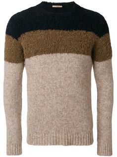 трехцветный свитер Nuur