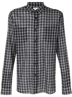 клетчатая рубашка Saint Laurent