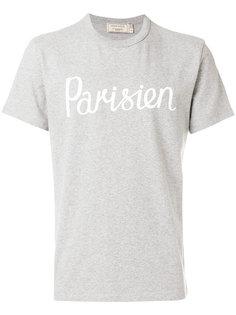 футболка с типографским принтом Maison Kitsuné