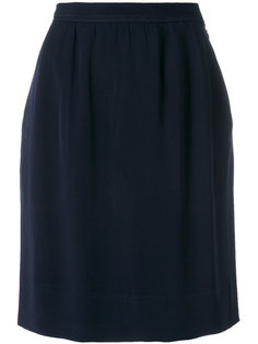 короткая прямая юбка Yves Saint Laurent Vintage